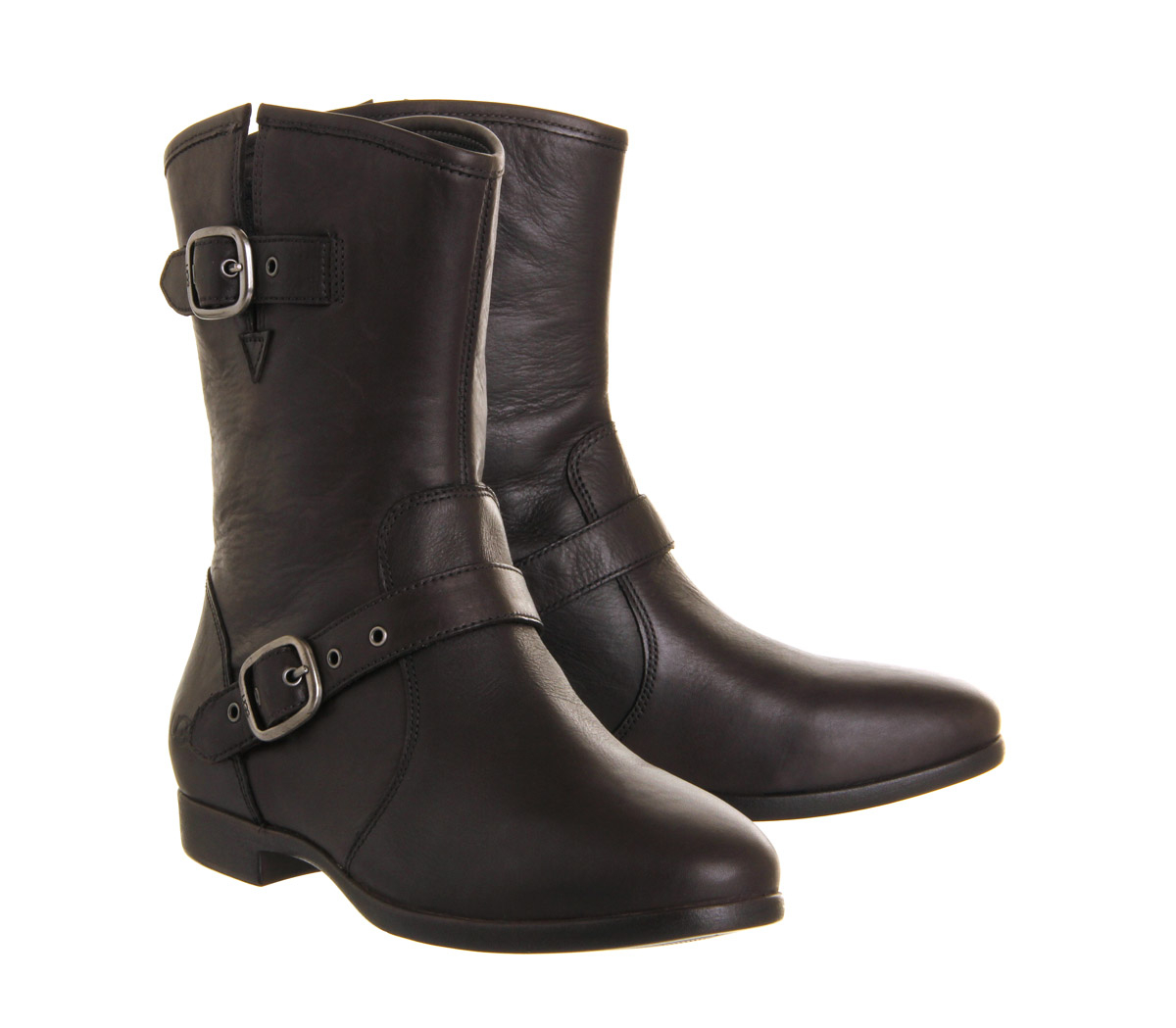 ugg frances buckle boots in black lyst