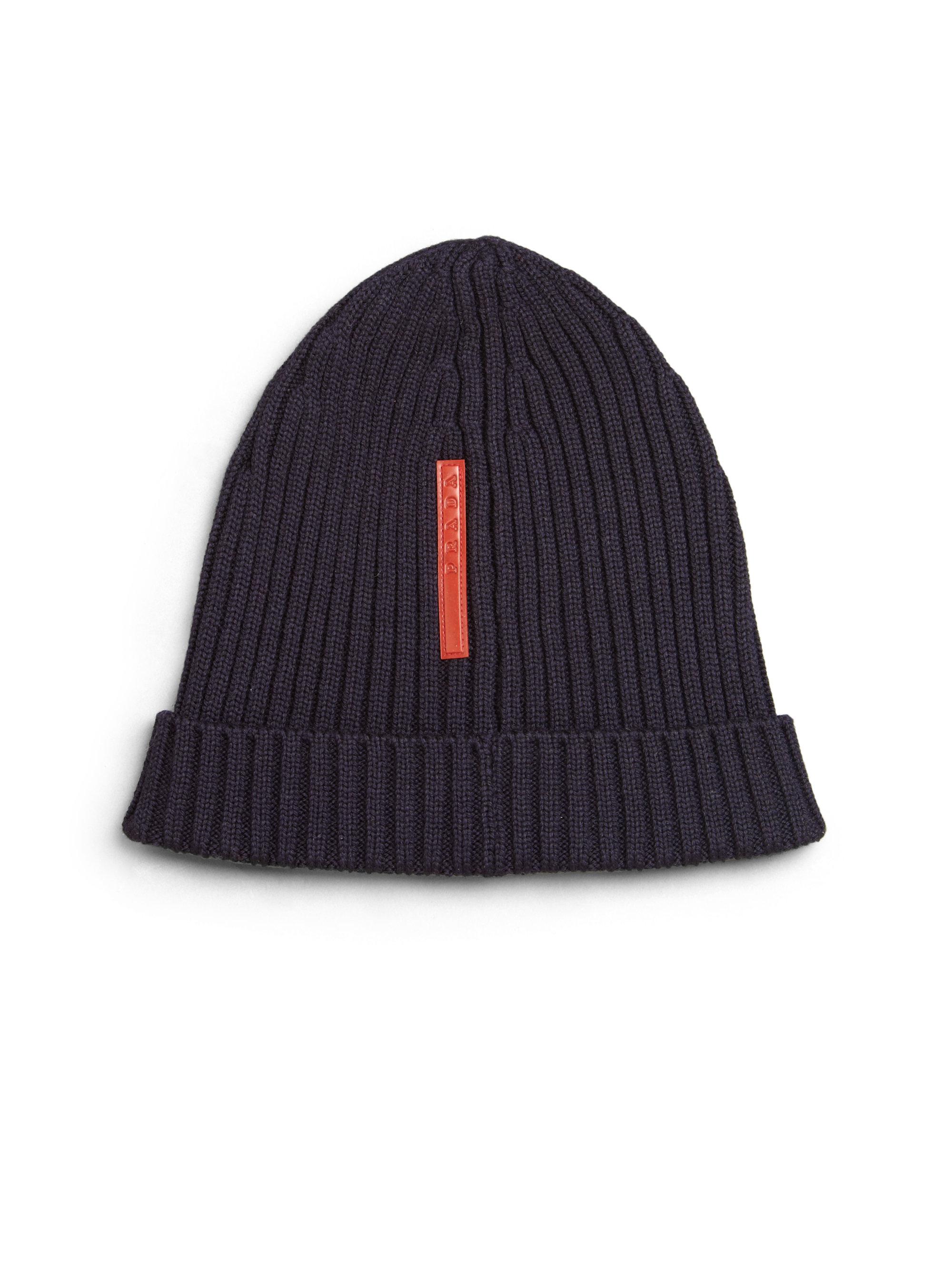 8ffa028a6a7 ebay prada knit hat 07 d168e ffa90  order lyst prada berretto knit beanie  in blue 0059d 0a458