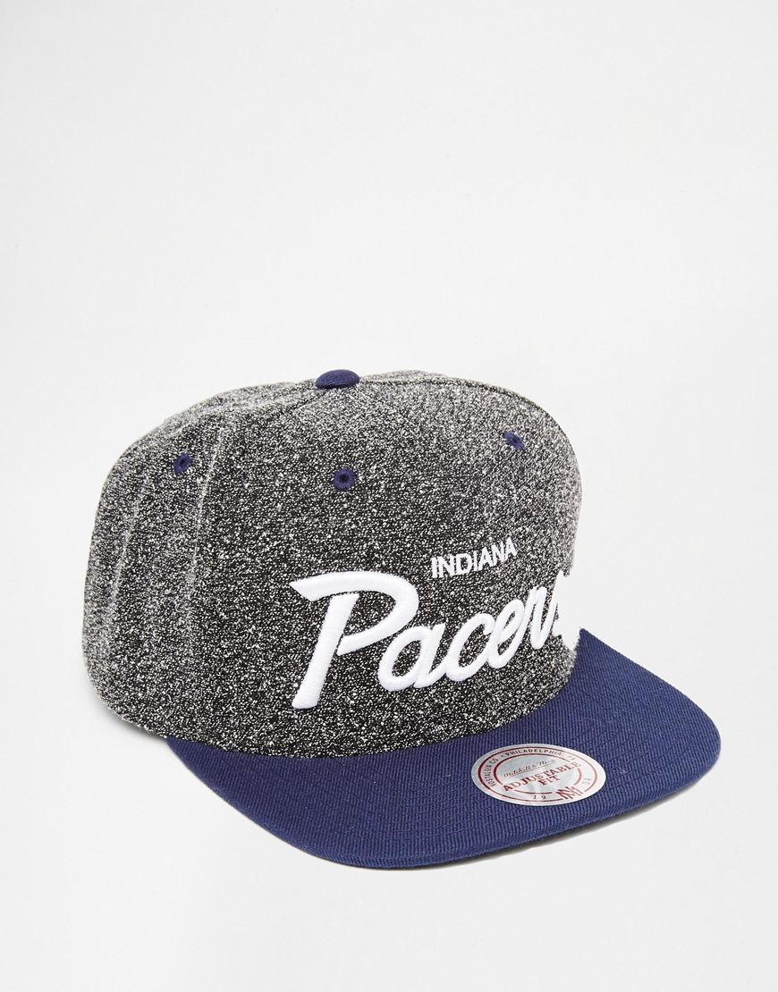 9242ad77092f0 ... wholesale lyst mitchell ness indiana pacers static snapback cap in gray  05688 c2c22