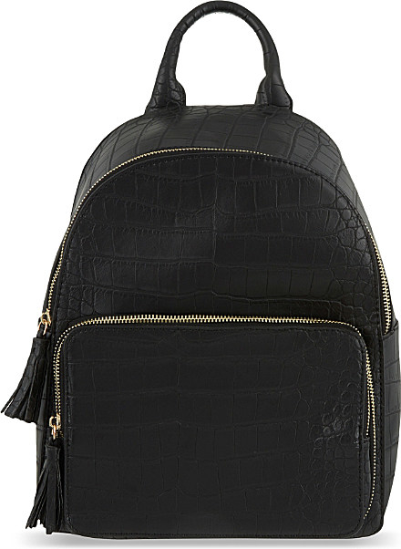 Star Embossed Pocket Velvet Backpack - Black Skinny Dip X5zsUq6Z