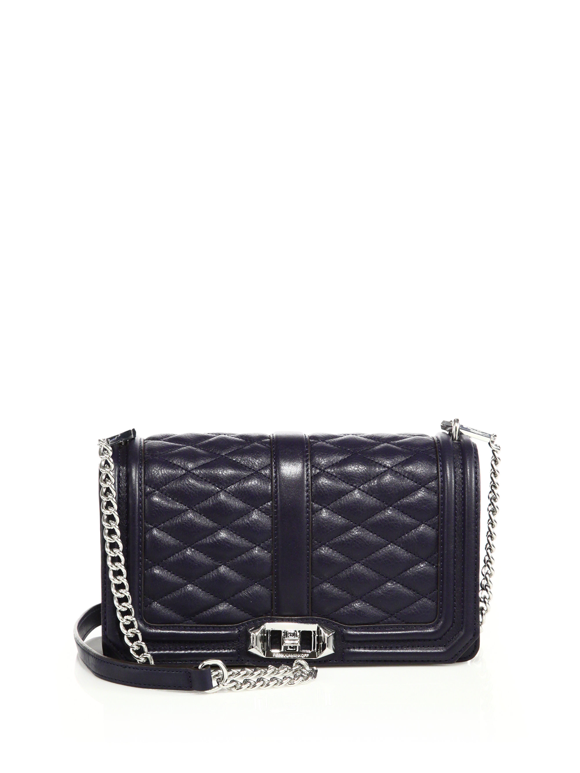 Lyst Rebecca Minkoff Quilted Love Leather Crossbody Bag