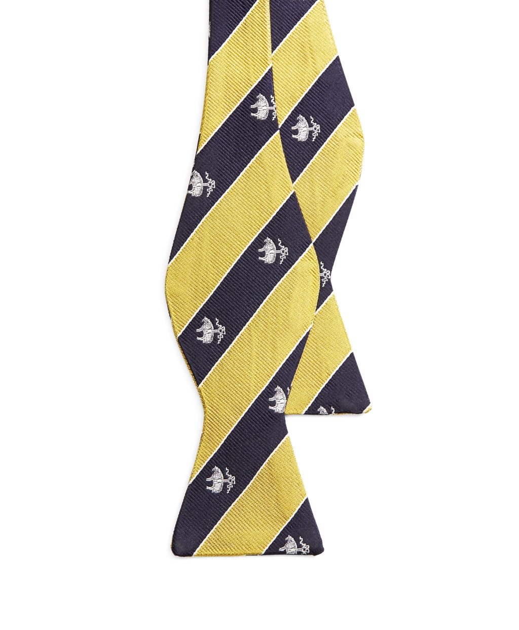 Lyst - Brooks brothers Golden Fleece® Logo Repp Stripe Bow ...