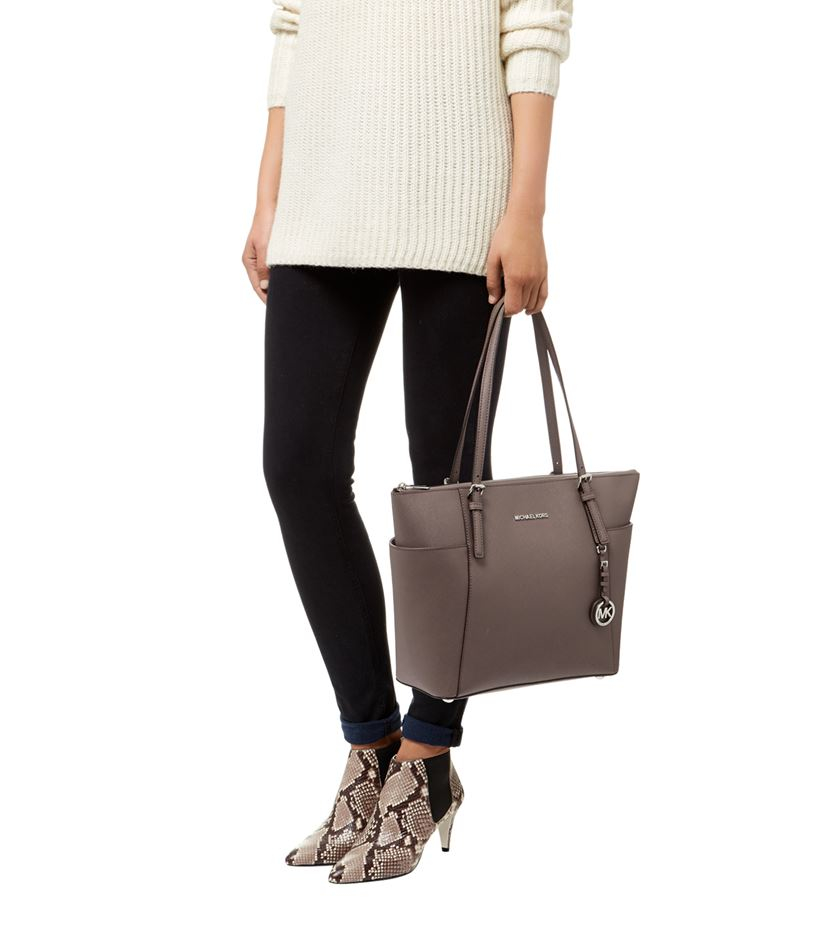 4670b47a67dcf MICHAEL Michael Kors Large Jet Set Travel East West Top Zip Tote in ...
