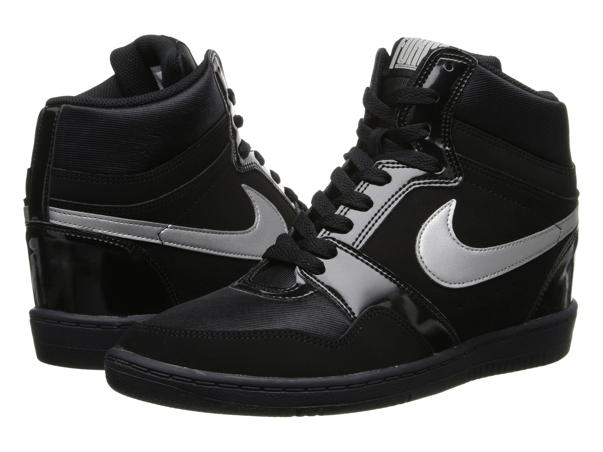36cc226728df1 Nike Force Sky High Sneaker Wedge in Black - Lyst