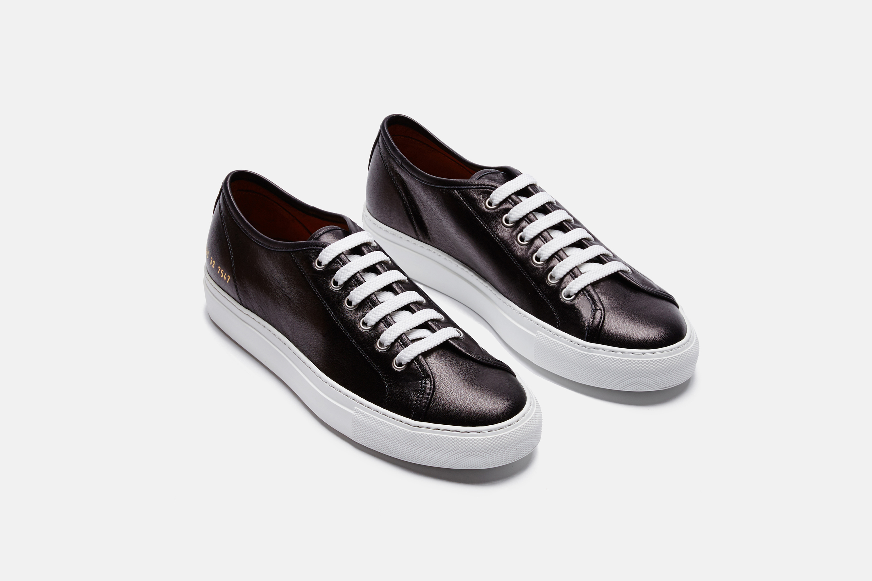 Tournament Leather Sneakers - Black Common Projects Quality From China Cheap Shopping 100% Authentic Ost Release Dates For Cheap For Sale XnW7xMA
