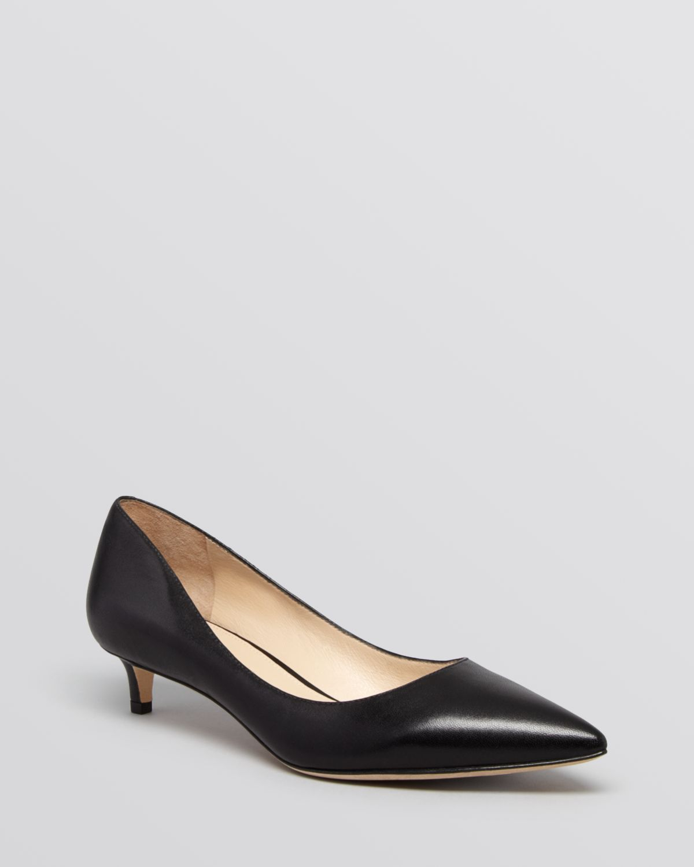 Black Patent Kitten Heel Shoes