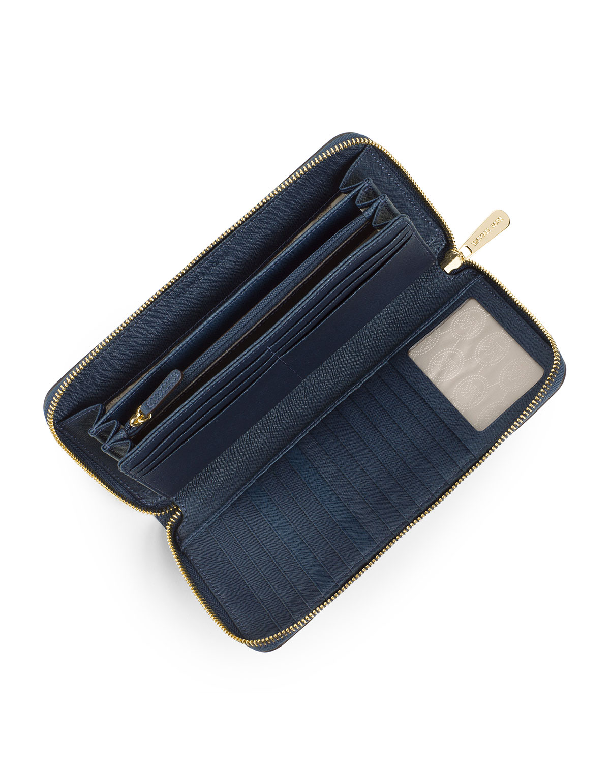 8284392fa8bb ... discount code for lyst michael michael kors jet set travel continental  wallet in blue 0c441 ee482