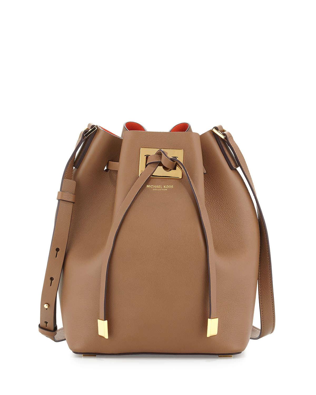 79fbb0b73cfd84 ... where to buy lyst michael kors miranda medium drawstring messenger bag  in brown d523f 9badf
