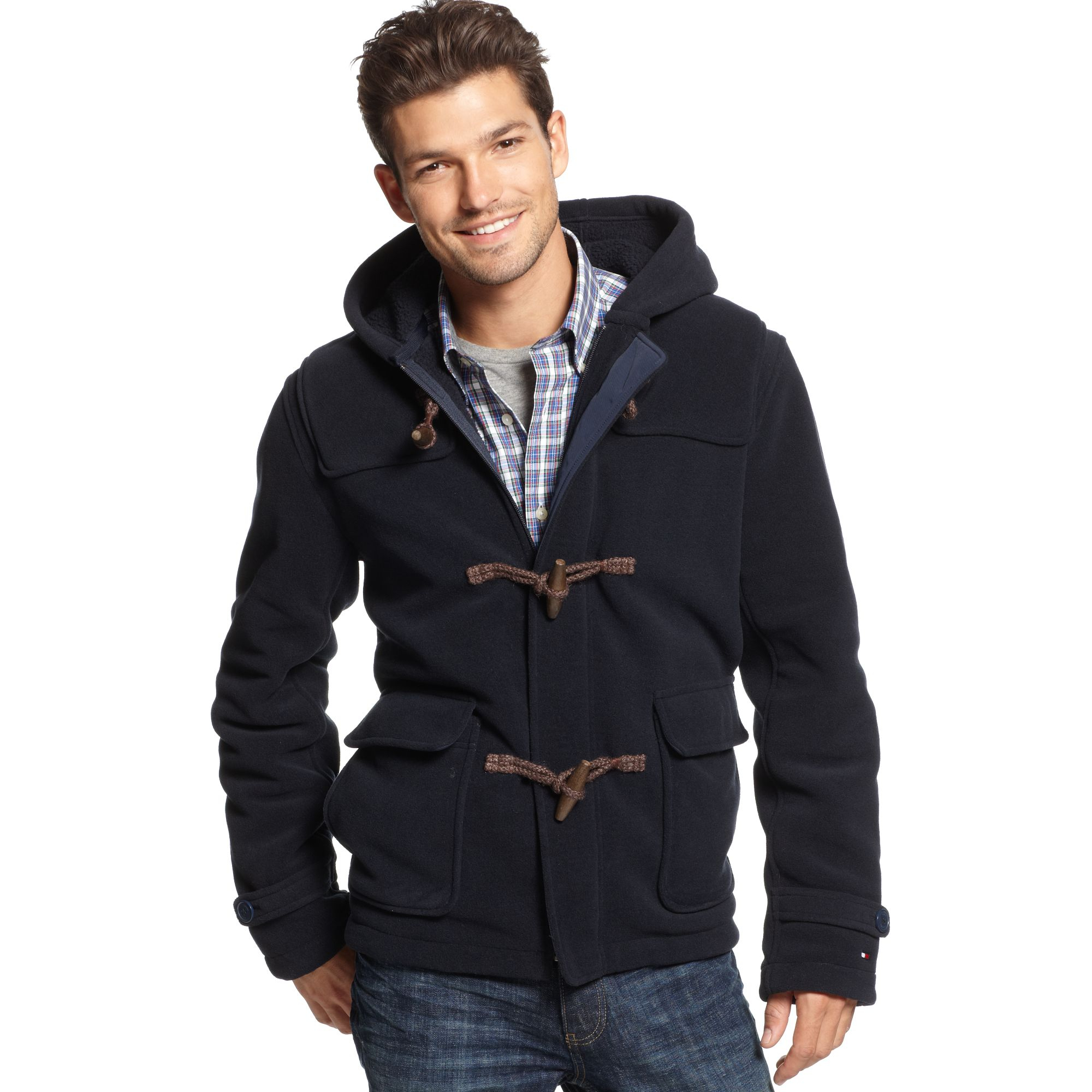 tommy hilfiger paxton duffle coat in blue for men masters navy. Black Bedroom Furniture Sets. Home Design Ideas