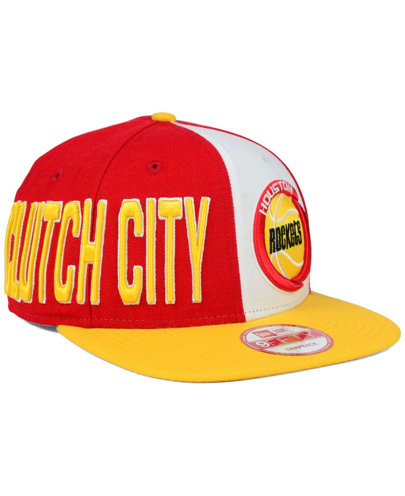 san francisco 51aa6 1e1bd Lyst - KTZ Houston Rockets My Block 9fifty Snapback Cap in Red for Men