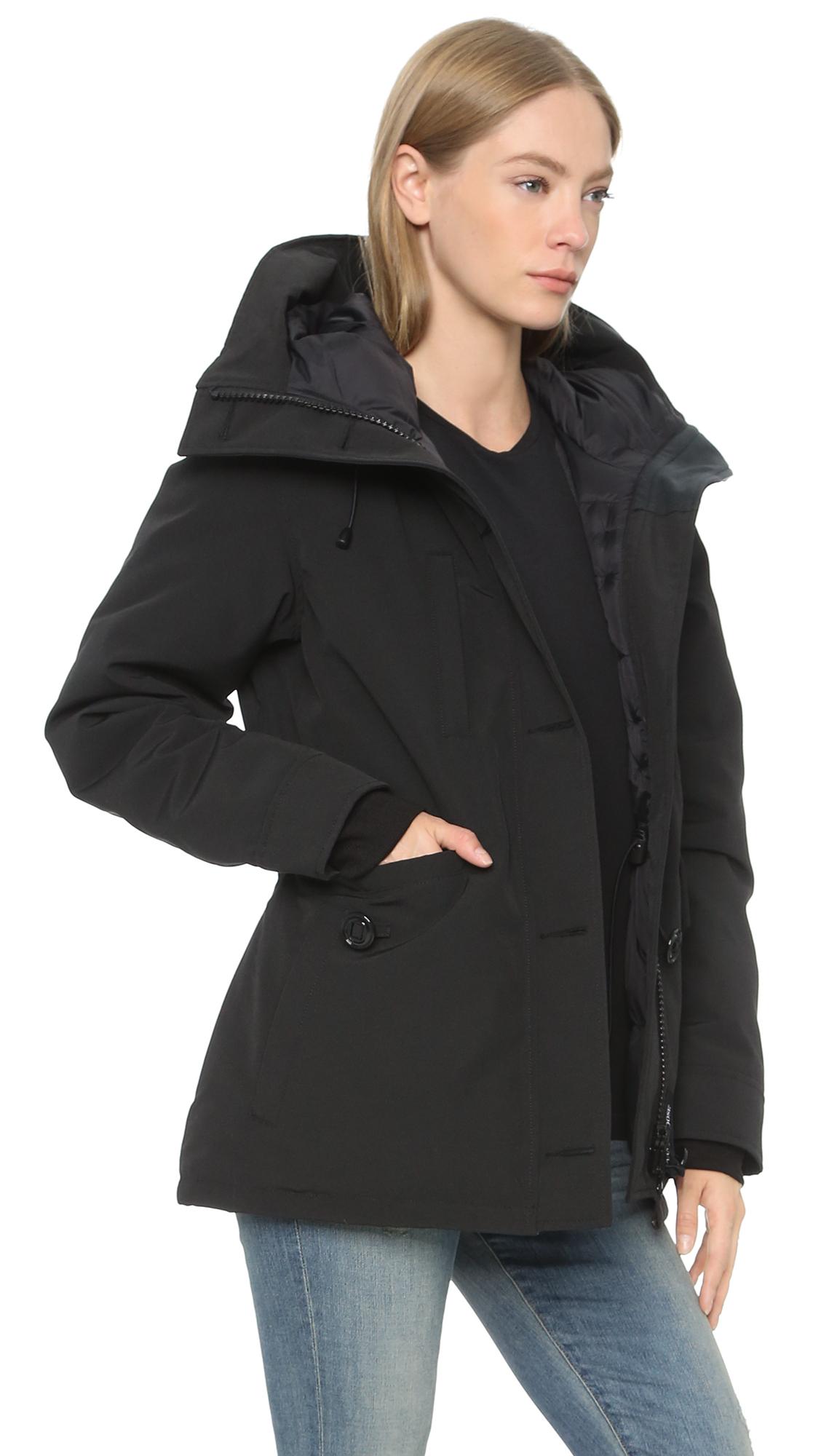 canada goose rideau parka in black lyst