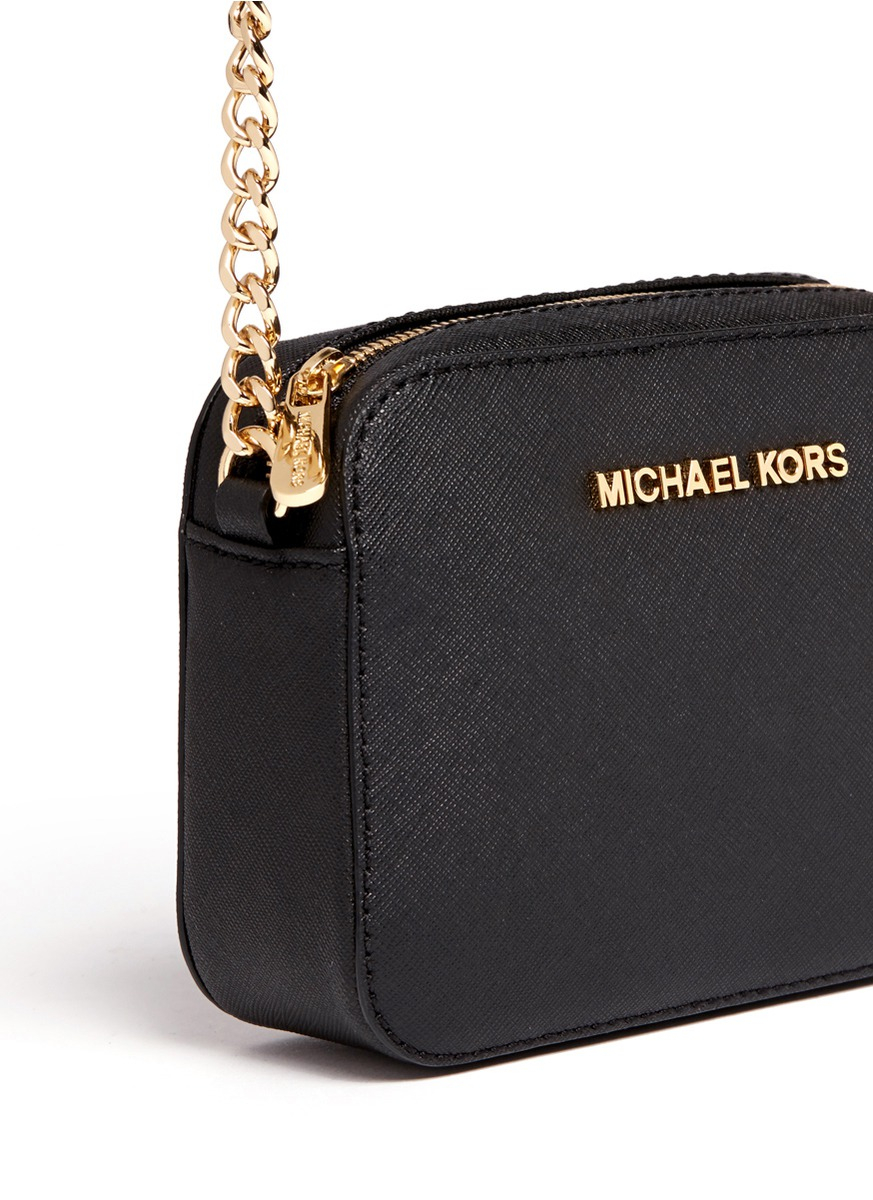 c68527fdff0f8 Lyst - Michael Kors  jet Set Travel  Petite Saffiano Leather ...