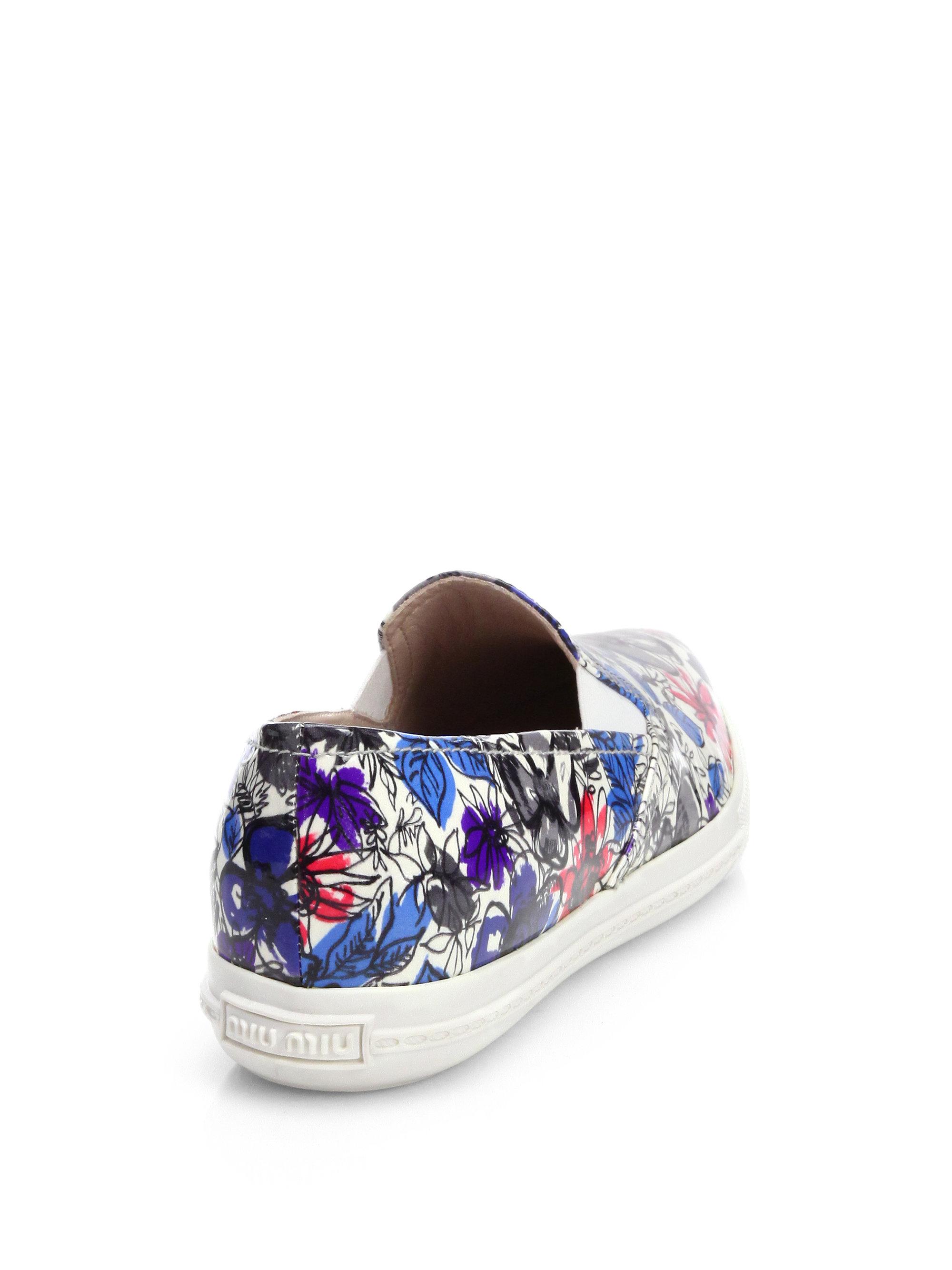Miu Miu Floral Slip-On Sneakers cheap recommend buy cheap supply V4nlS