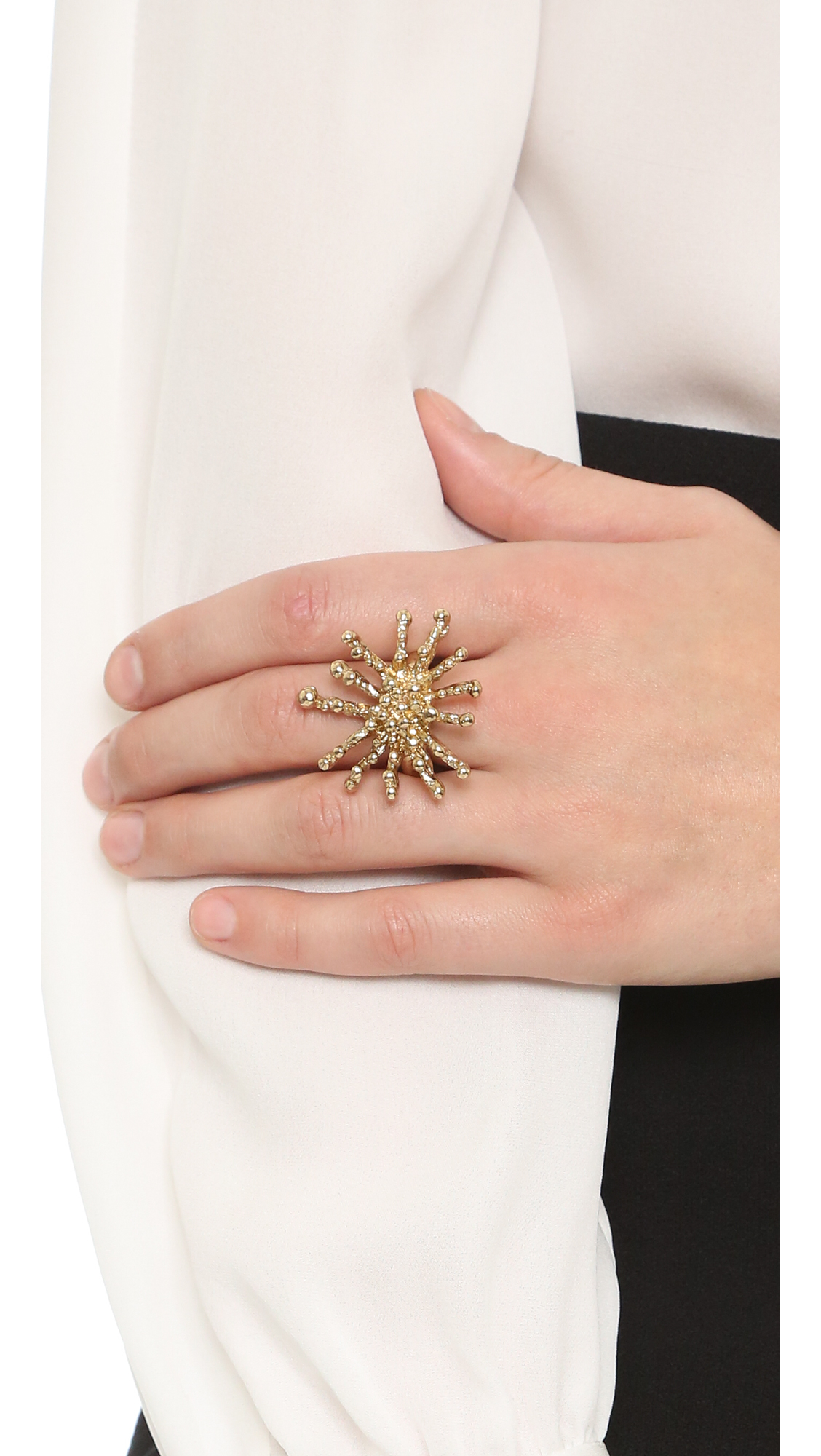 starfish ring - Metallic Oscar De La Renta