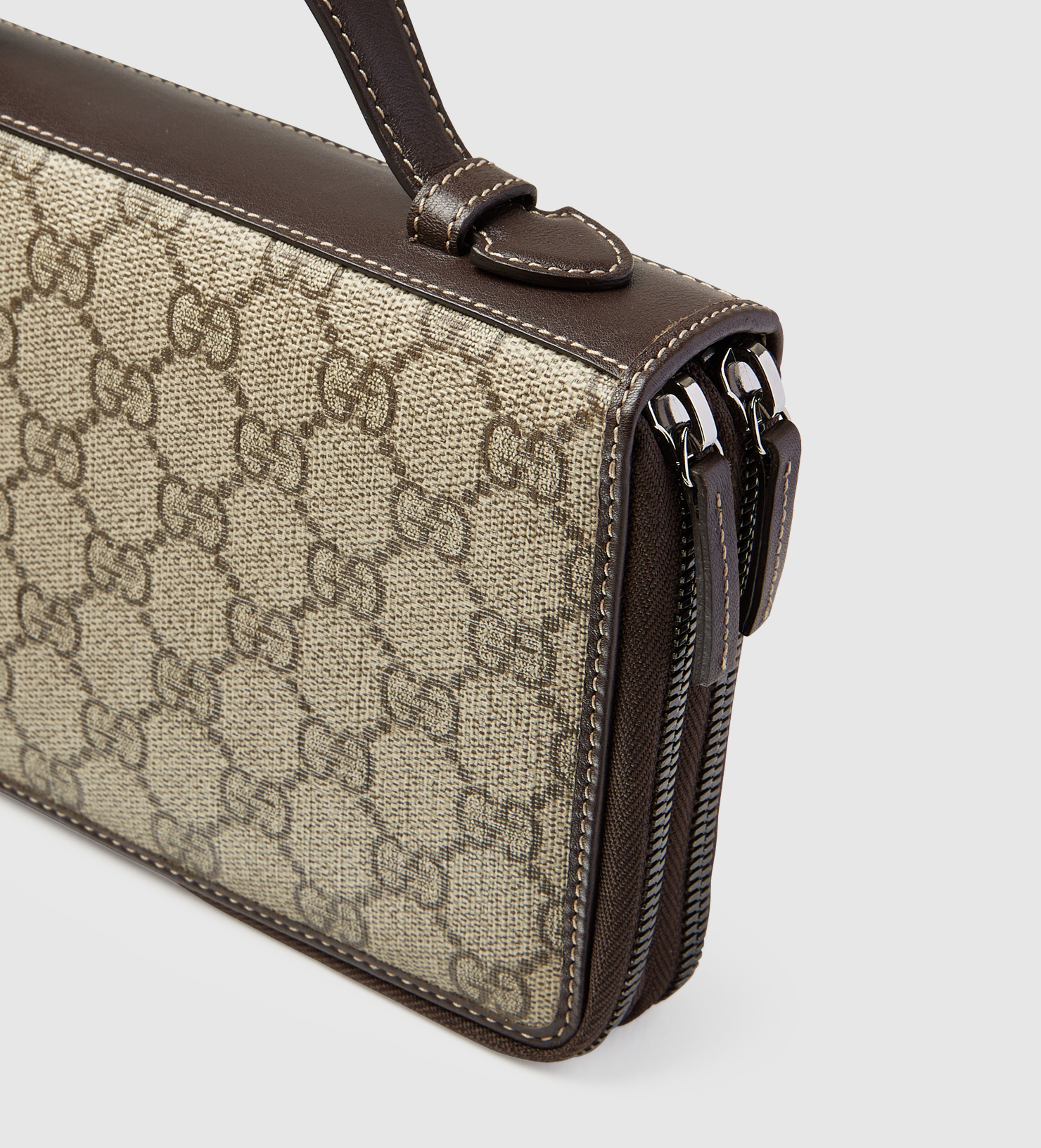 d3fed041e2d7 Gucci Gg Supreme Canvas Travel Document Case in Natural for Men - Lyst