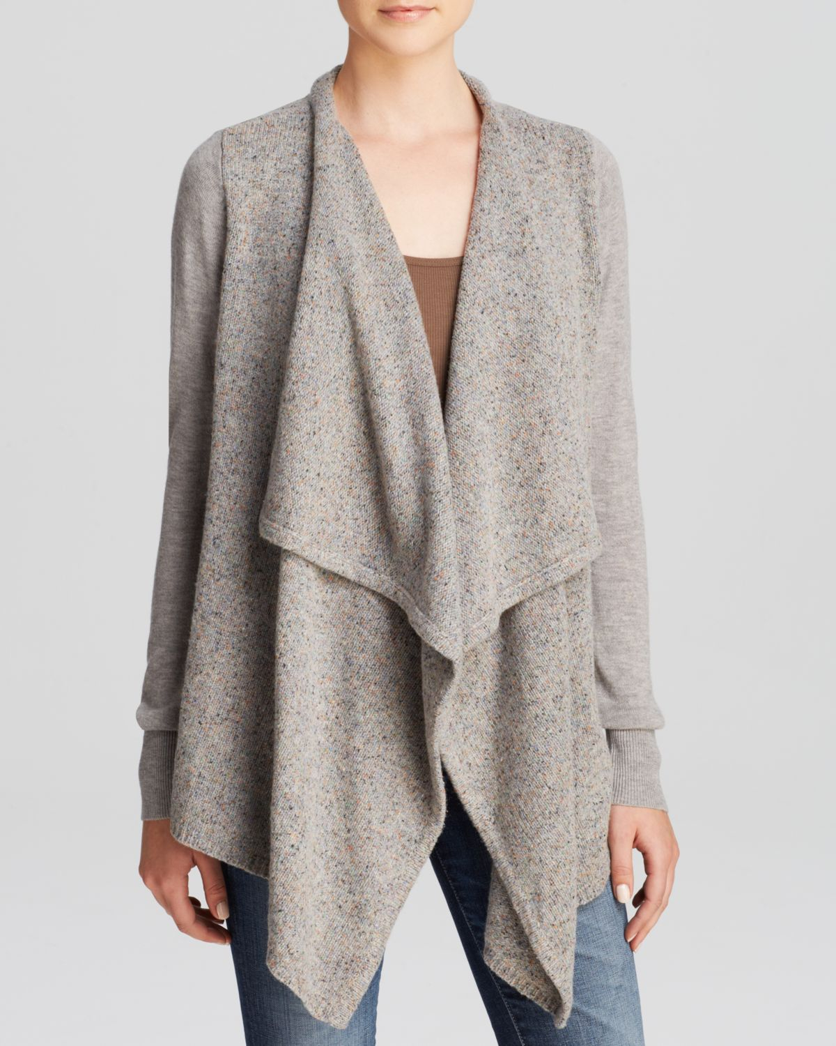 Joie Cardigan - Starley Open Drape in Gray | Lyst