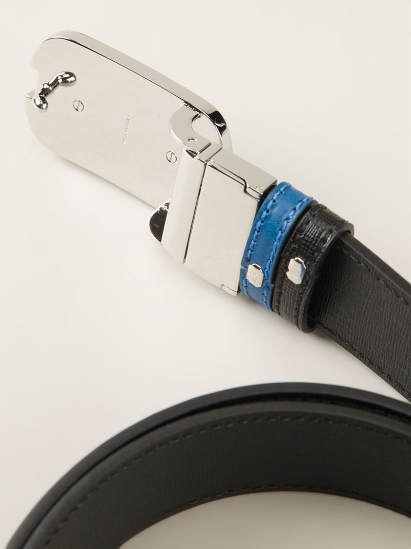 Fendi Logo Plaque Buckle Belt in Blue for Men   Lyst