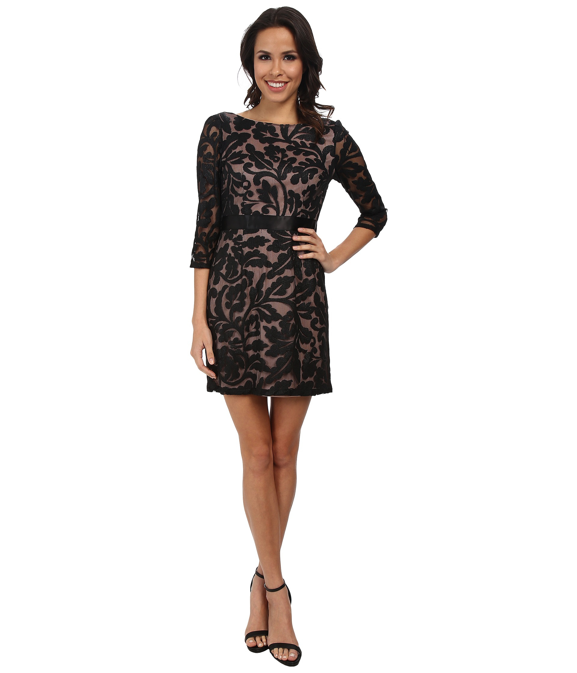 3/4 Sleeve Black Cocktail Dresses