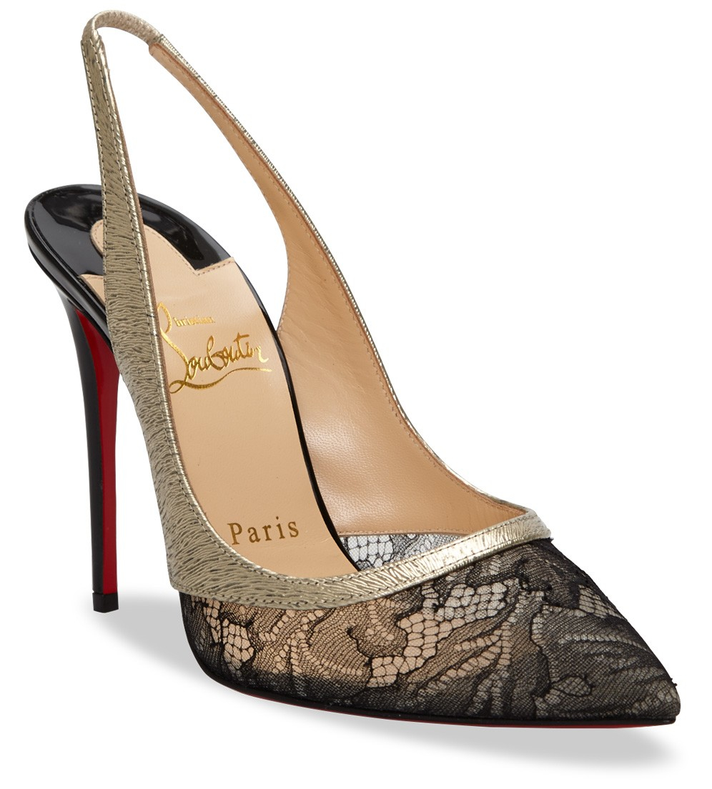 christian louboutin fifi patent leather slingback pumps