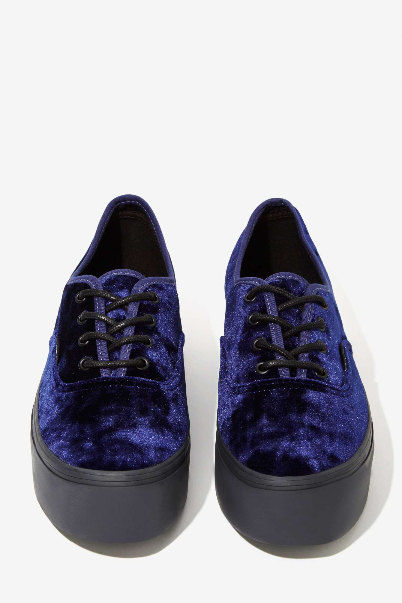 Women S Shoes Blue Velvet Sneakers