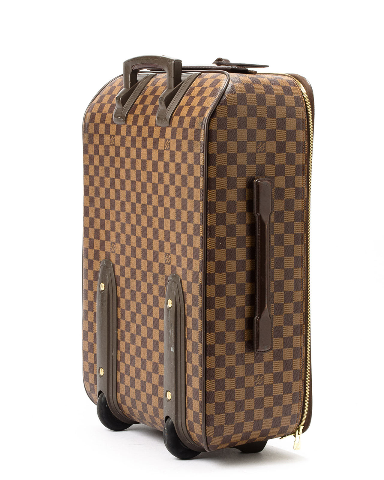 a4c4c960788d Lyst - Louis Vuitton Damier Ebene Pegase 55 Suitcase in Brown