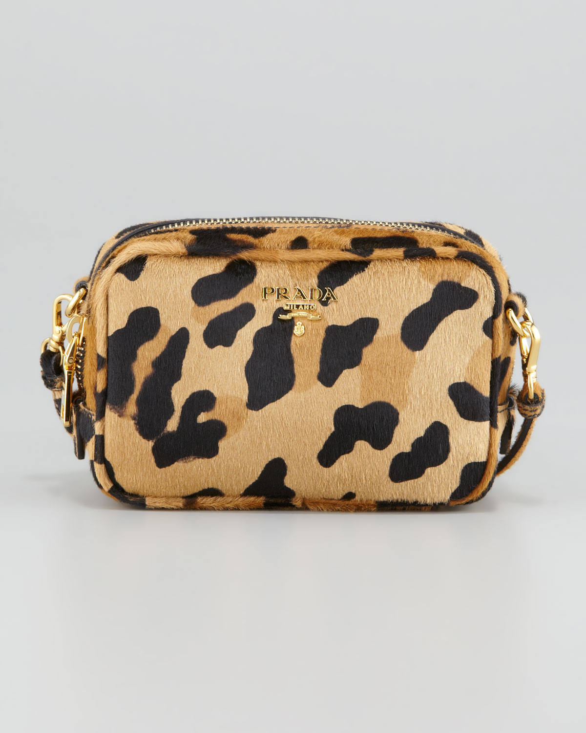 b039769f1c5a Prada Leopard-Print Mini Crossbody Bag - Lyst