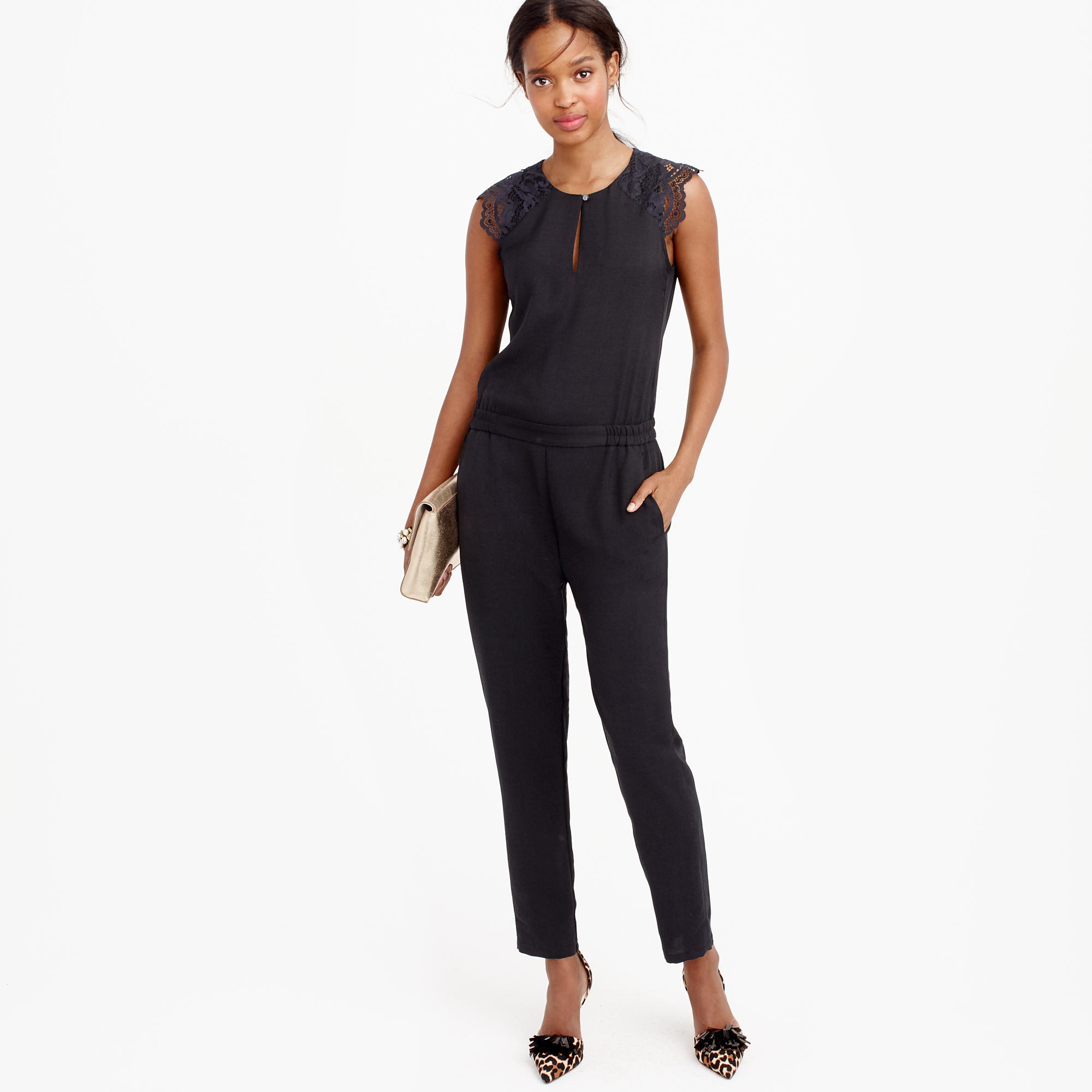 Collection Black Petite Jumpsuit Pictures - Reikian