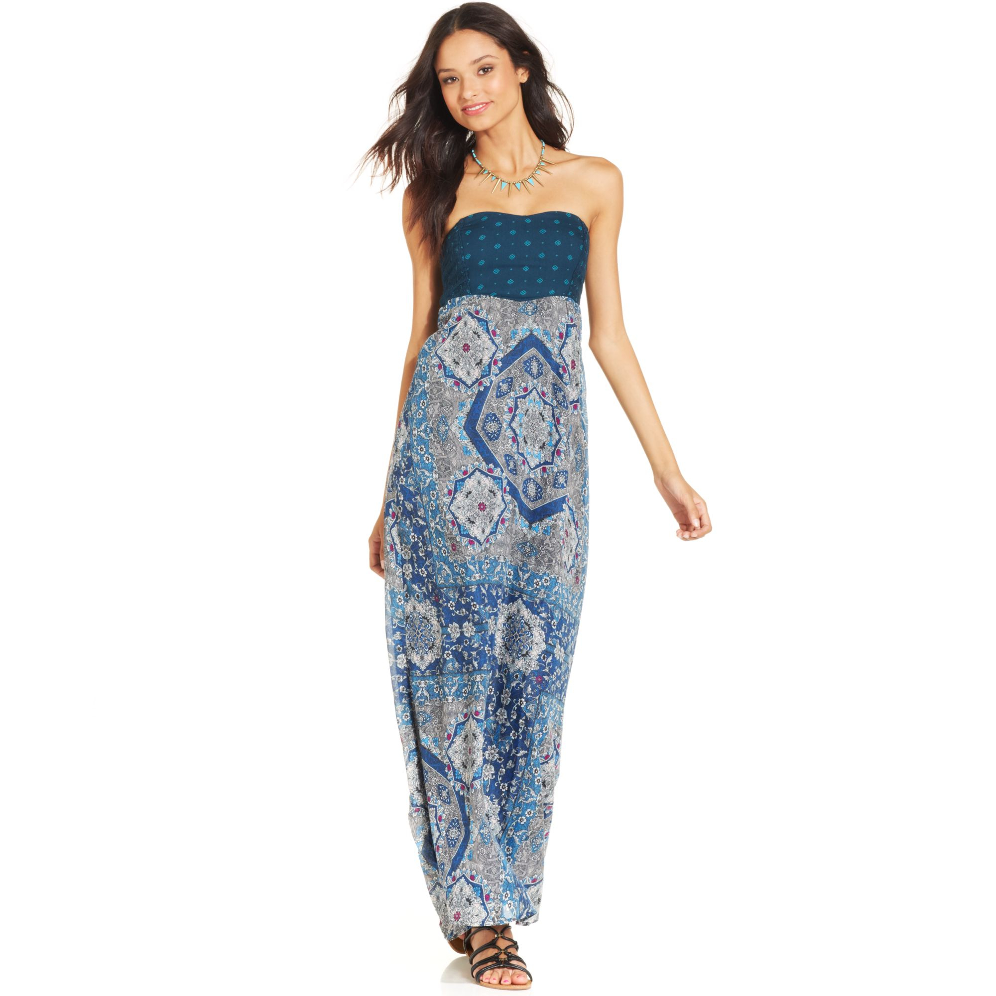 Blue roxy maxi dress