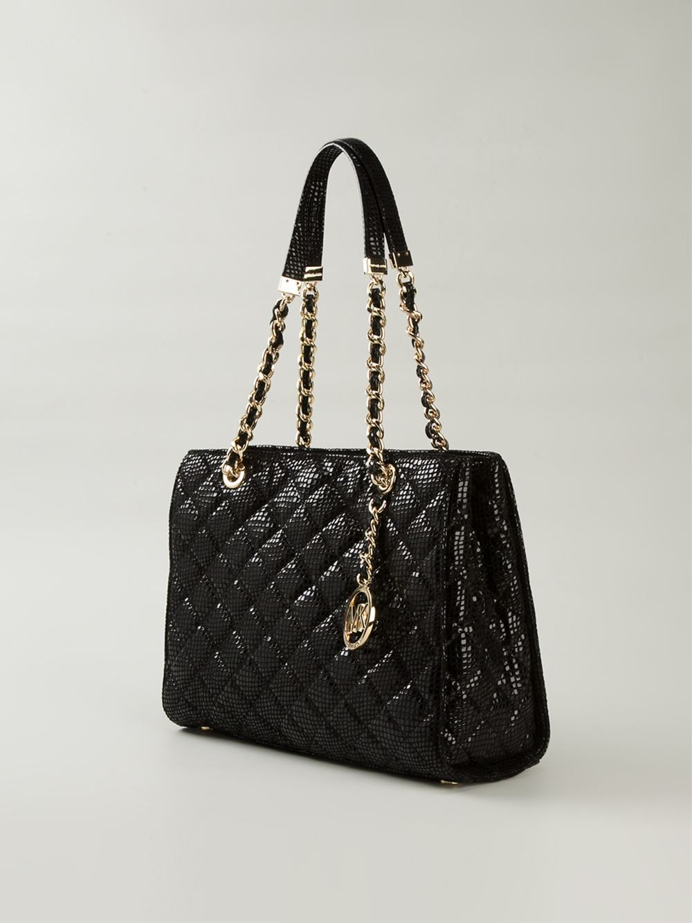 Lyst Michael Michael Kors Susannah Quilted Lg Tote 18k