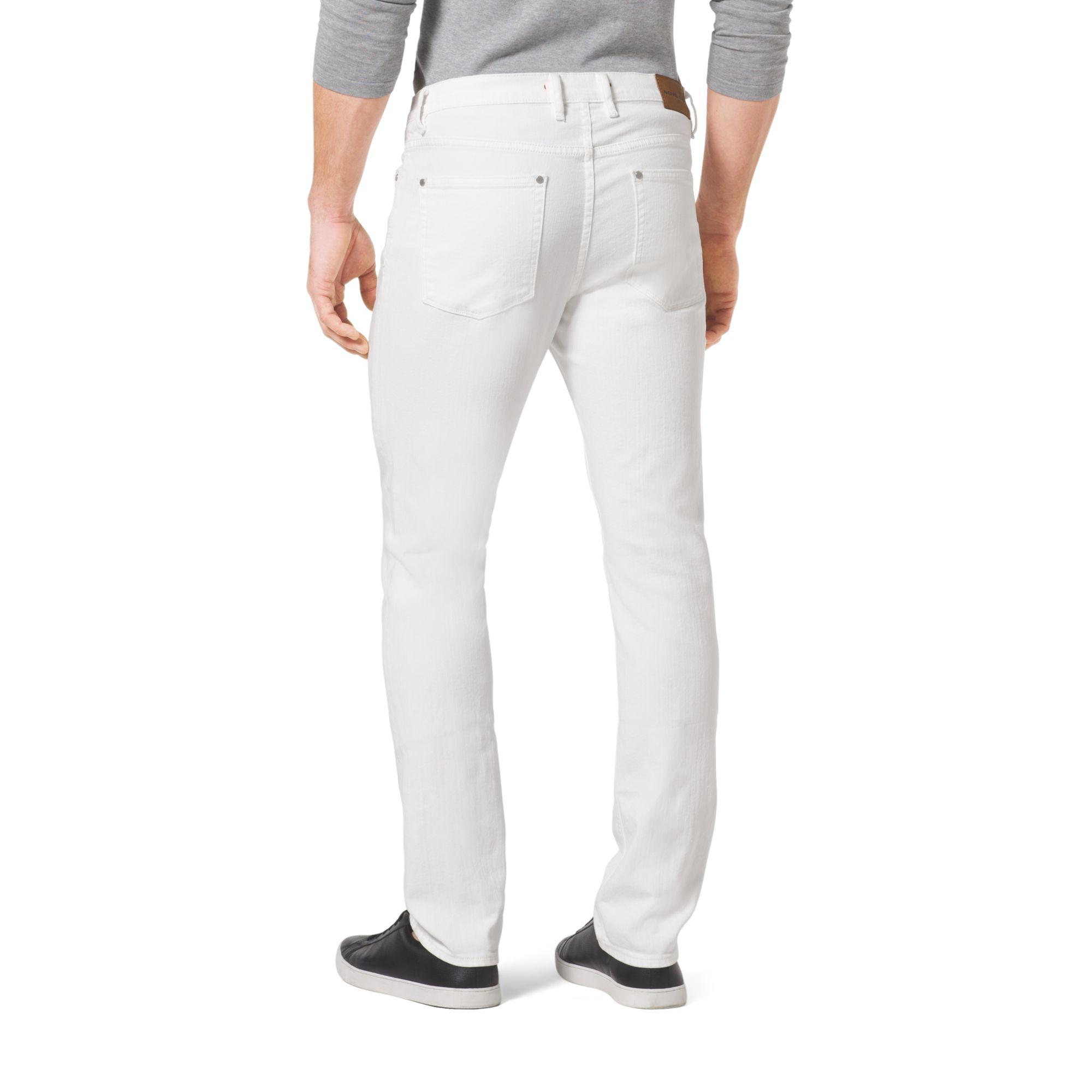 Michael kors Slim-fit Jeans in White for Men | Lyst
