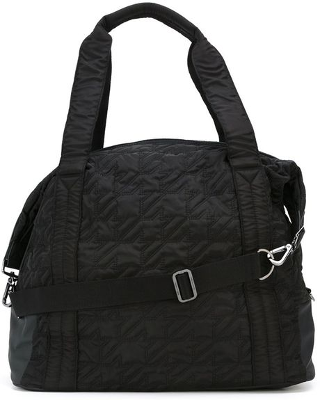 Womens Black Gym Backpack  finest selection 1e769 8c179 Adidas By Stella  Mccartney Quilted Sports Bag in Black Lyst 3f54abbd54
