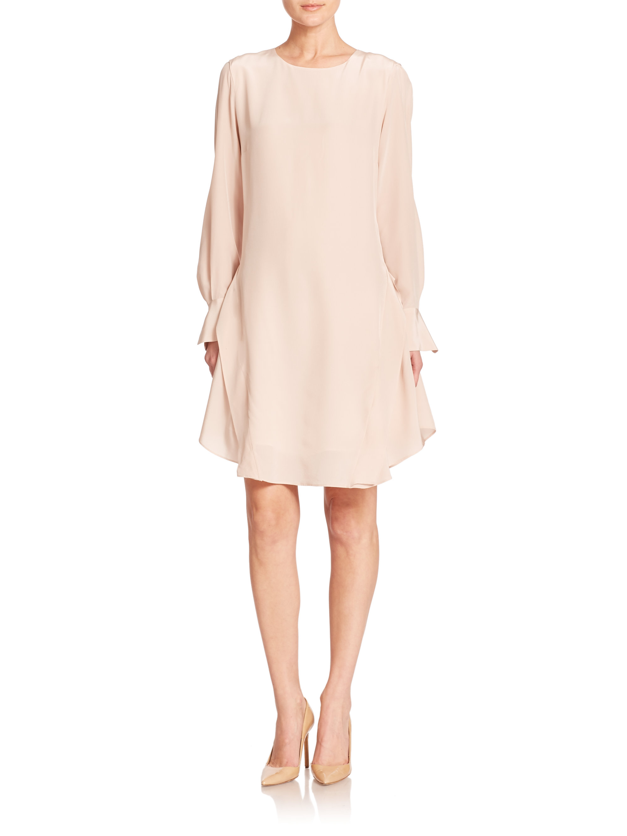 Ruffled scarf dress See By Chloé Recommend Cheap New For Sale Sale With Credit Card Cheap Sale Free Shipping Shop Offer Sale Online 4ATnl06e