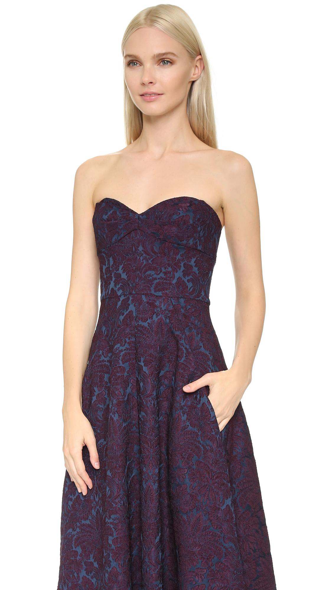 0039ae089c3c Turmec » jill jill stuart floral strapless dress