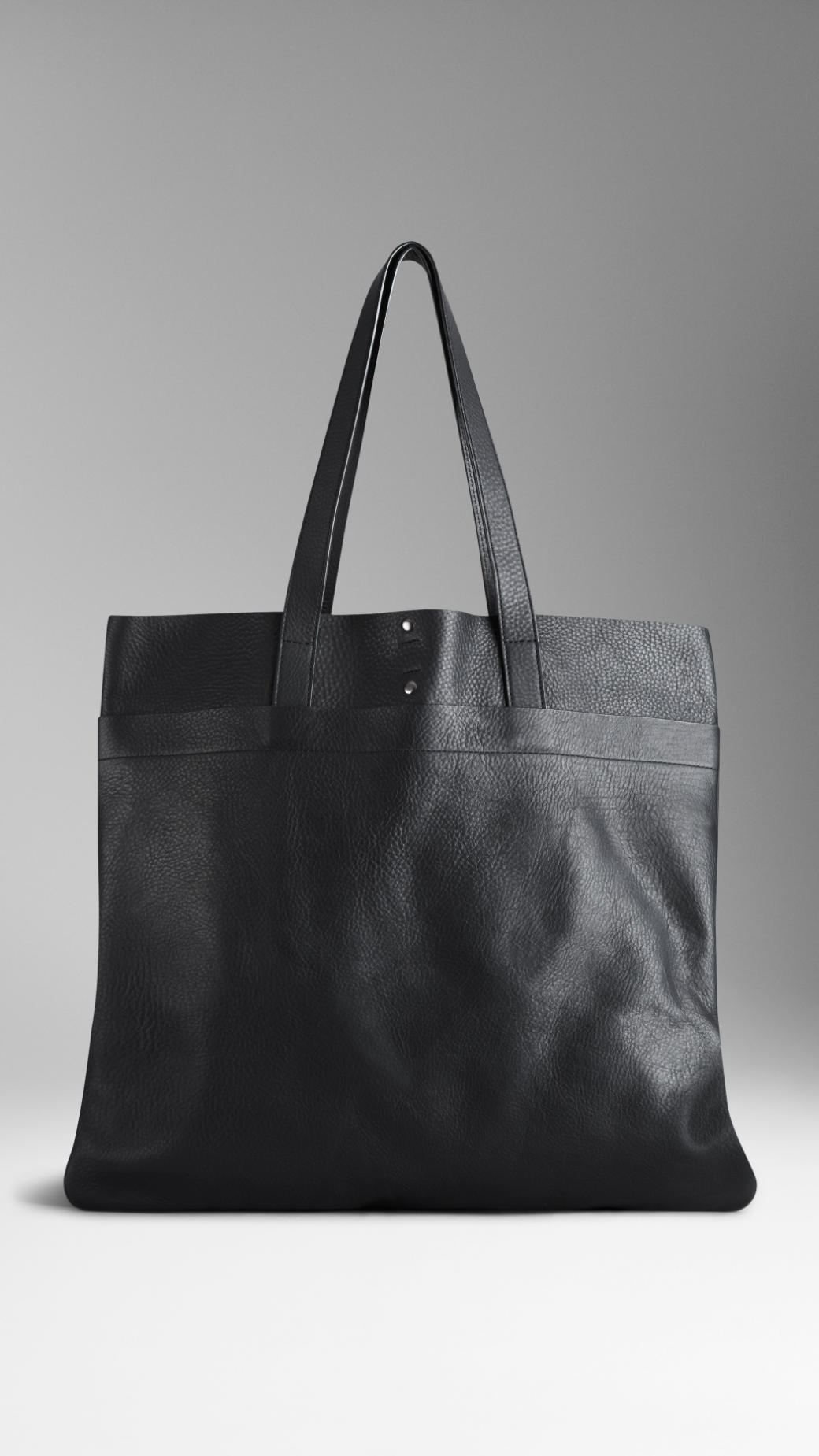 a78f35983be2 Burberry Textured Leather Tote Bag in Black for Men - Lyst