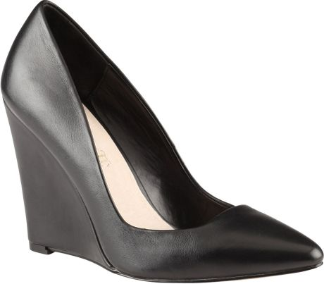aldo cirrito pointed toe wedge court shoes in black lyst