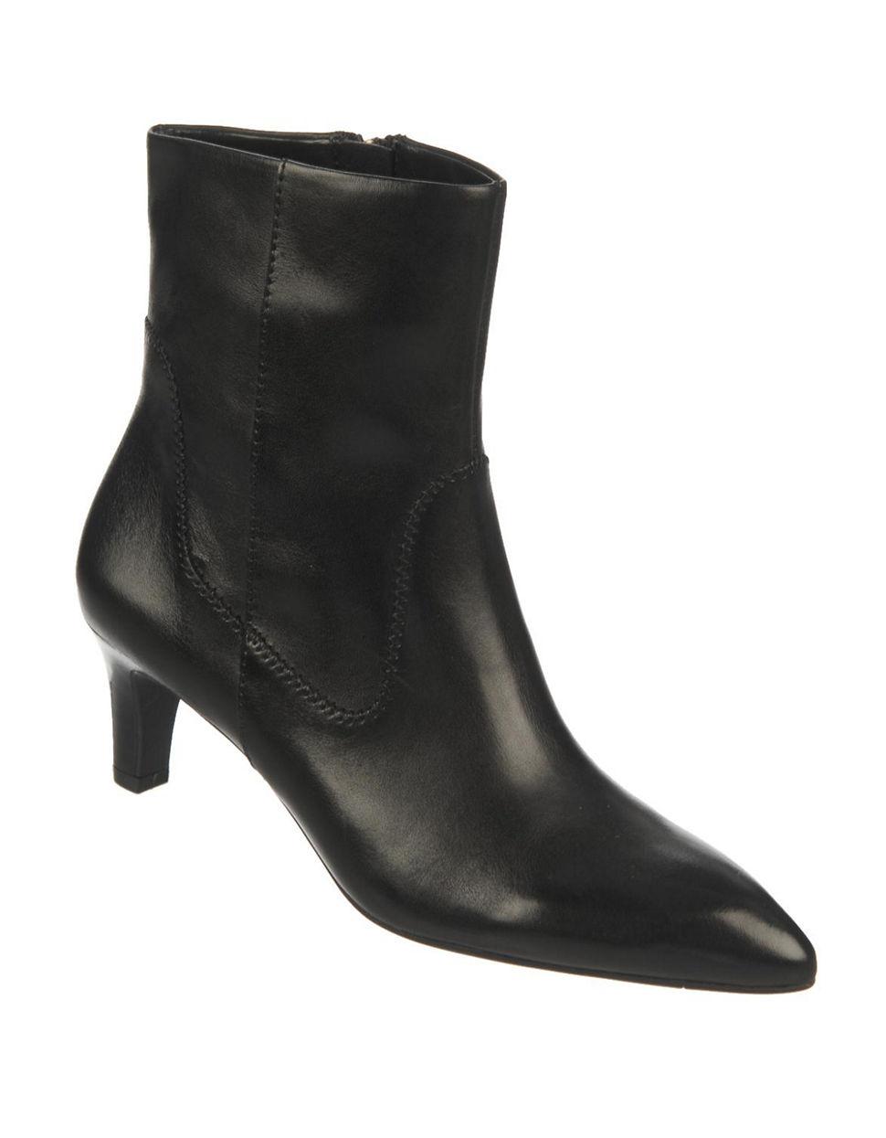 franco sarto regis leather boots in black lyst