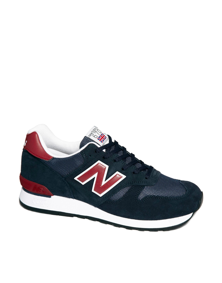 new balance made in england 670 sneakers in blue for men. Black Bedroom Furniture Sets. Home Design Ideas
