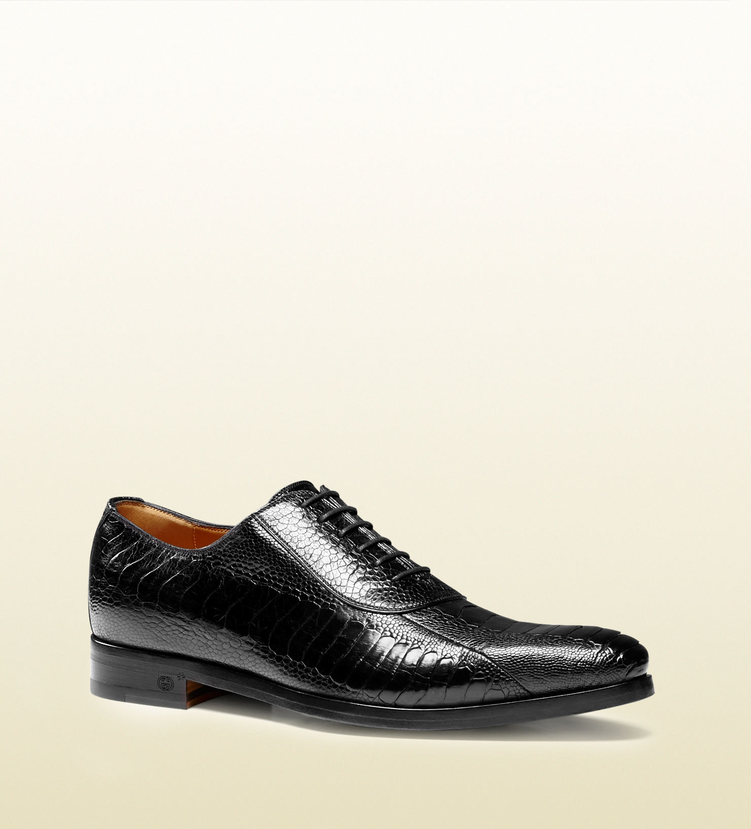 Gucci Ostrich Claw Lace-up Shoe in Black for Men