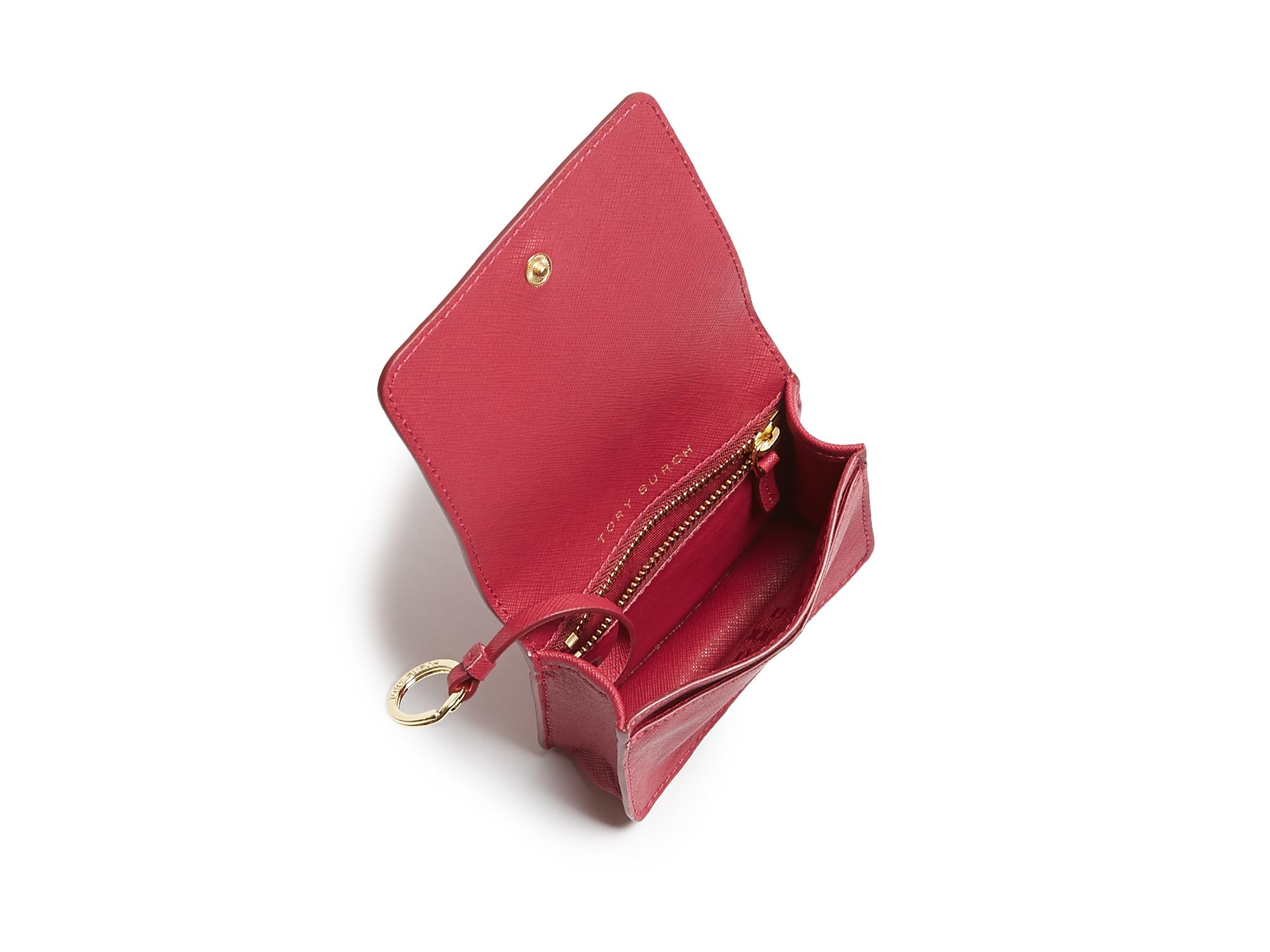 Lyst - Tory Burch York Foldable Card Case in Red