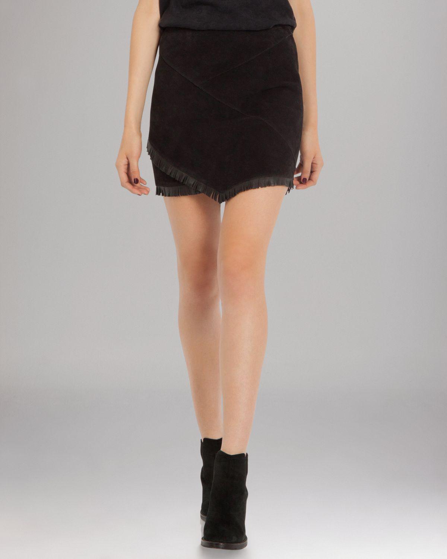 22a9c6d7c Lyst - Maje Skirt Asymmetric Mini in Black