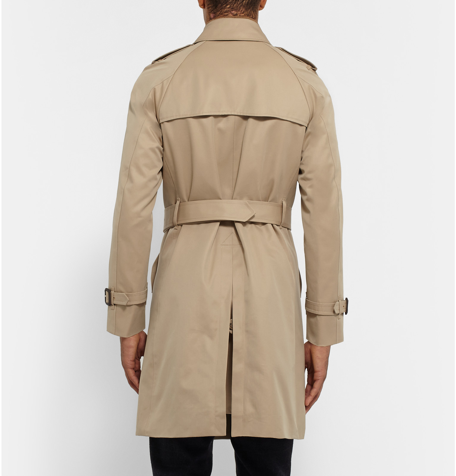 Mackintosh Slim-fit Cotton Trench Coat in Sand (Natural ...