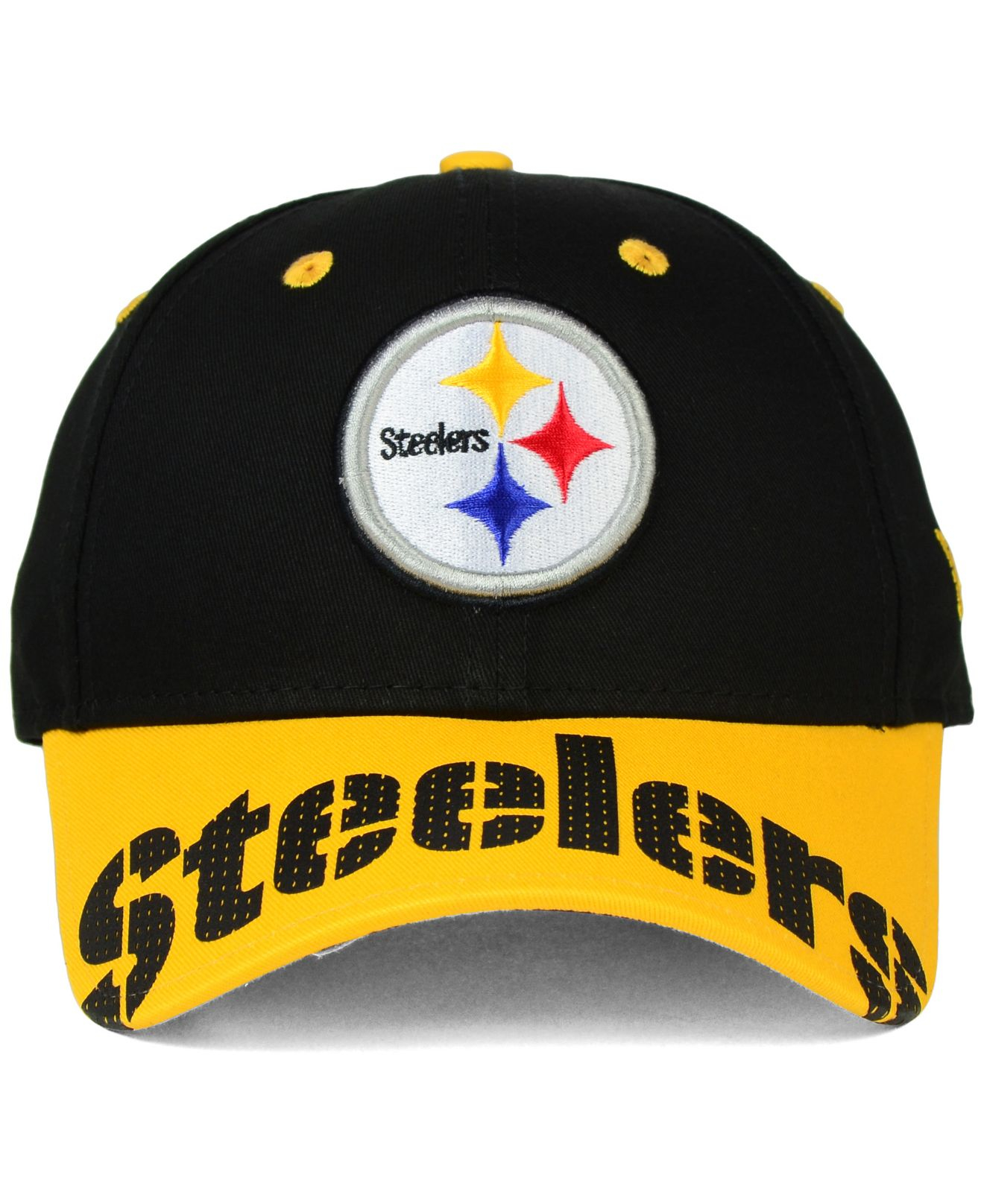 05934e51 KTZ Pittsburgh Steelers Word Pin 2 Tone 9forty Cap in Black for Men ...