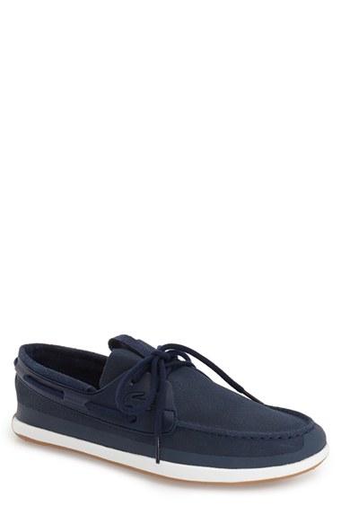 55601eb44 Lyst - Lacoste  landsailing  Boat Shoe in Blue for Men