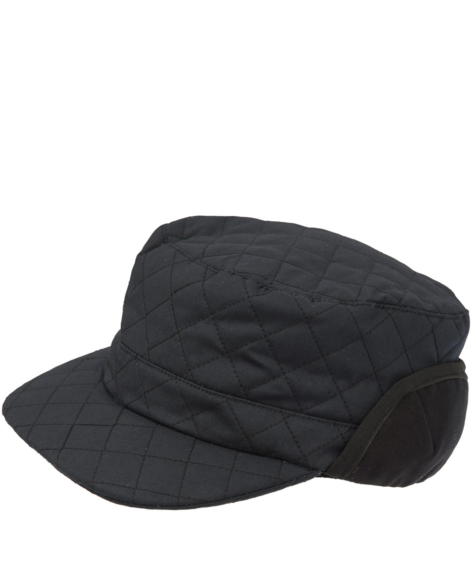Christys  Black Quilted Waxed Cotton Cadet Hat in Black for Men - Lyst 6eed596e577
