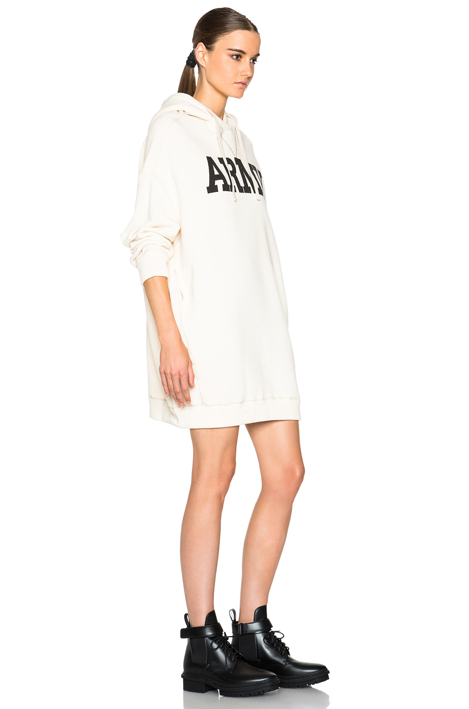Nlst Oversized Hoodie Dress In White Lyst