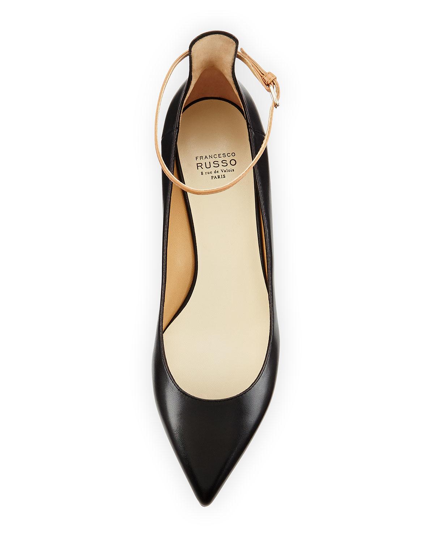 Low Heel Ankle Strap Pumps - Is Heel