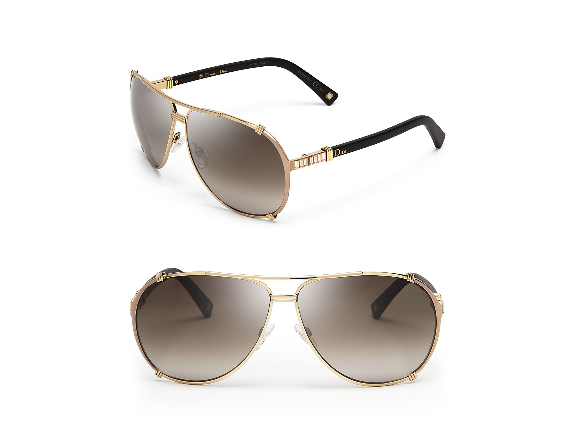 Dior Chicago Sunglasses  dior chicago 2 aviator sunglasses in metallic lyst