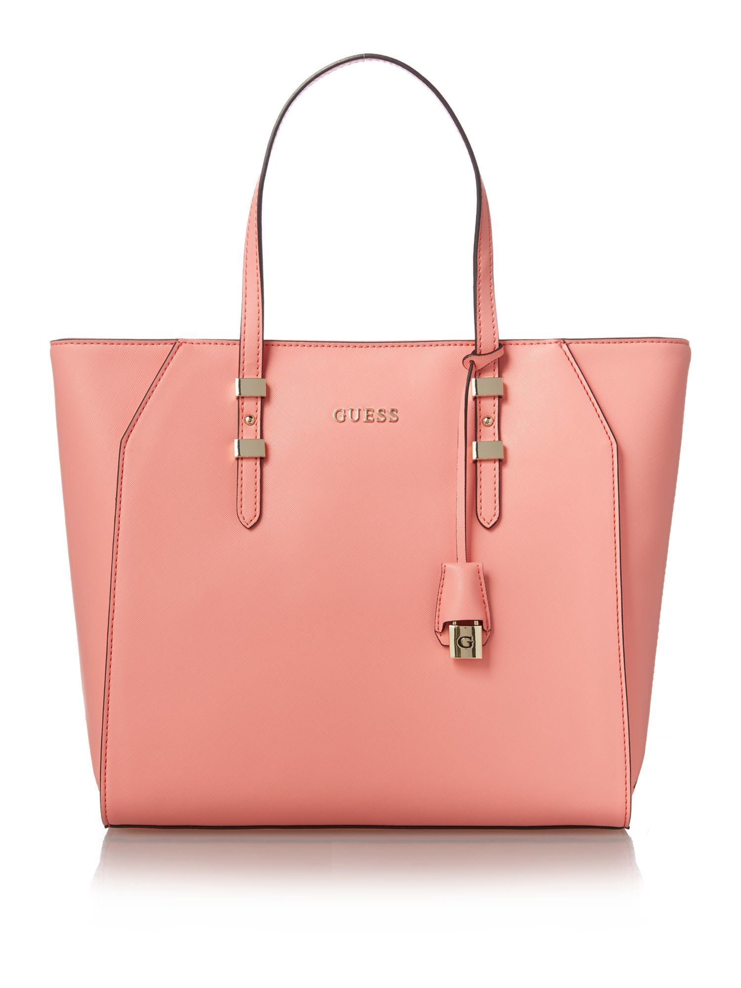 Guess Gigi Pink Tote Shoulder Bag in Pink | Lyst