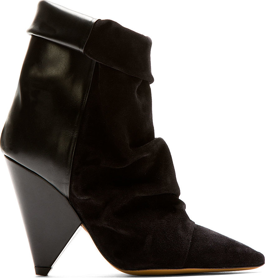 isabel marant black couture andrew ankle boots in black lyst. Black Bedroom Furniture Sets. Home Design Ideas