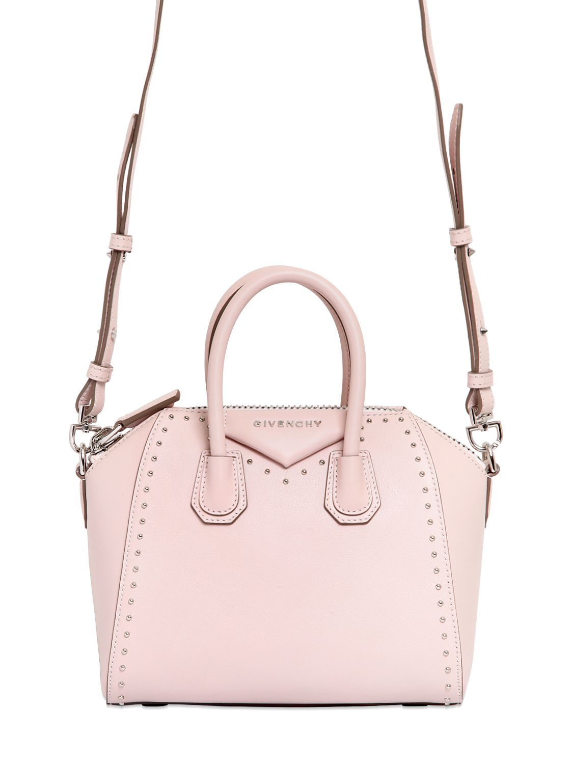 5905aa8dfc5c Lyst - Givenchy Antigona Mini Leather Cross-body Bag in Pink